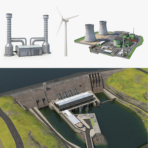 3D power plants 2 model