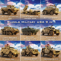 3D model wheels military usa 9