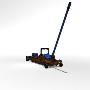 3D floor jack model