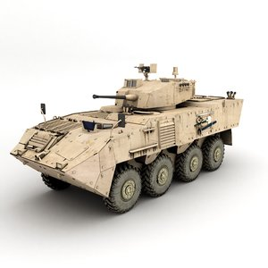 armoured personnel carrier 3D model