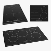 Induction Hobs Bosch 3D Models Collection