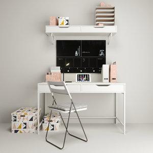 workplace ikea shelf 3D model