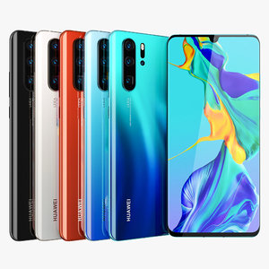 3D huawei p30 pro colors model