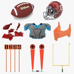 3D football equipment 3 ball