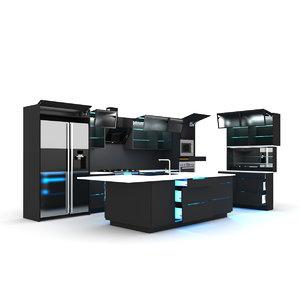 kitchen blum servo-drive 3D