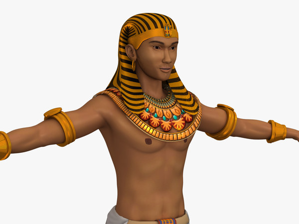 3D egyptian rigged