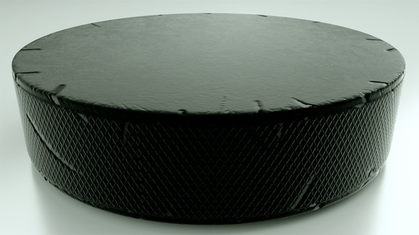 hockey puck scratch marks 3D model