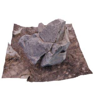 rock scan 3D model