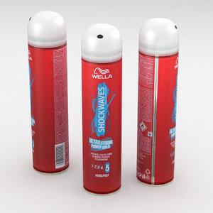 hair spray hairspray 3D model