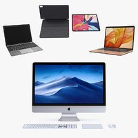 Apple Computers 2018 3D Models Collection