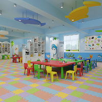 3D model kindergarten classroom interior