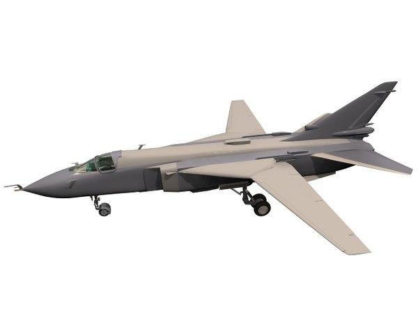 3D su-24 su sukhoi