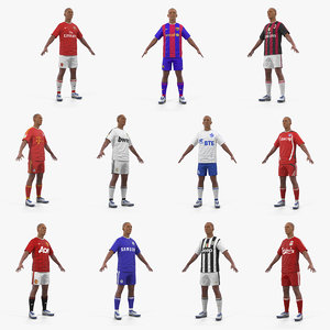 soccer players 3D