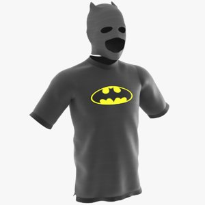 3D batman t-shirt mask model