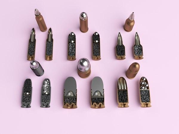 half bullets 3D model