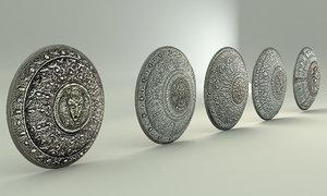 set shields relief 3D