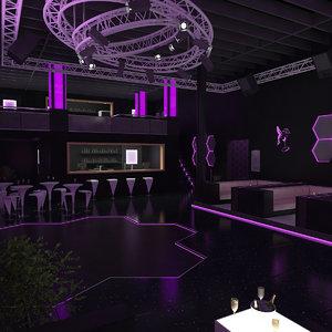 stonette 6 nightclub interior lighting 3D