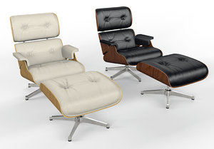 charles eames vitra lounge chair 3D model