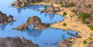 3D fantasy beach