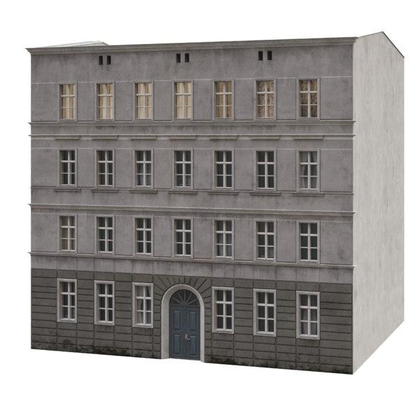 3D model tenement house facade