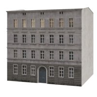 3D model tenement house facade