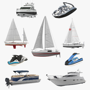recreational boats 3 3D model