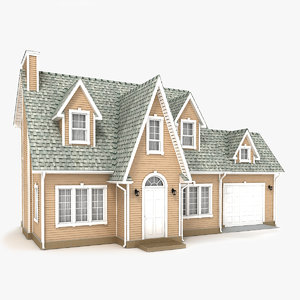 two-story cottage 65 3D model