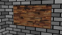 3D wood wall