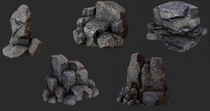 landscape nature rock 3D model