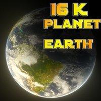 3D maps 16k planet earth