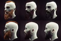 Hairstyle and Beard Low Poly