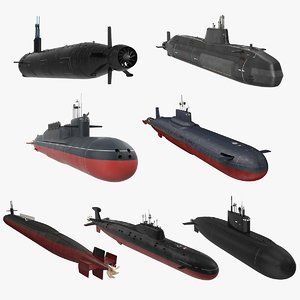 military submarines rigged 2 3D