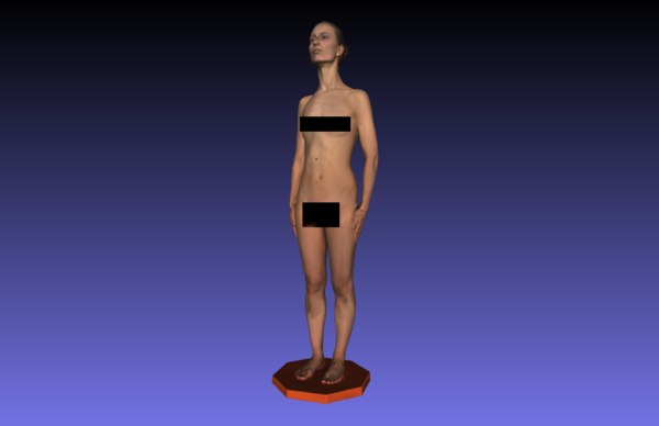 3D woman naked anna