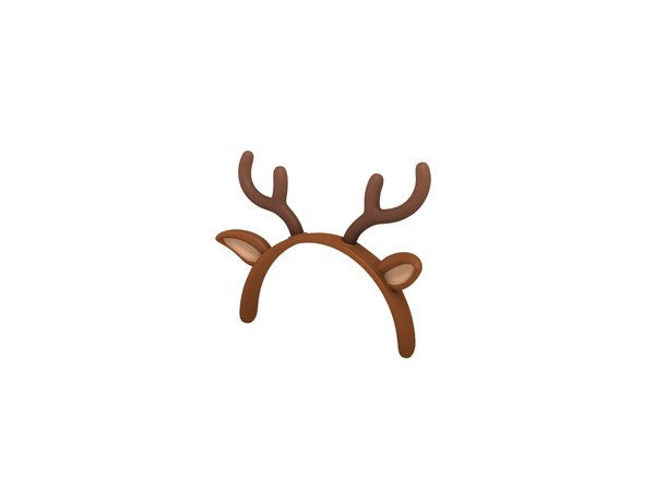 3D deer ear headband model