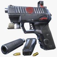 weapon pistol firearm 3D