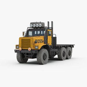 3D model industrial heavy truck