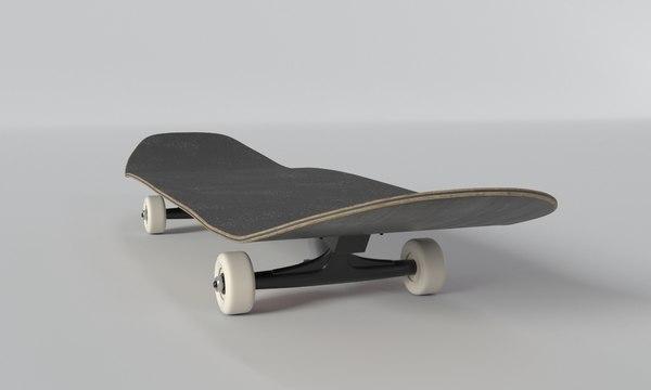 skateboard board skate 3D model
