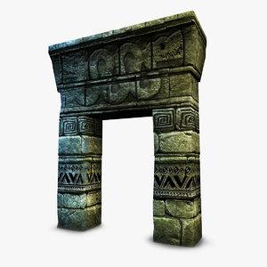aztec mayan gate 3D model