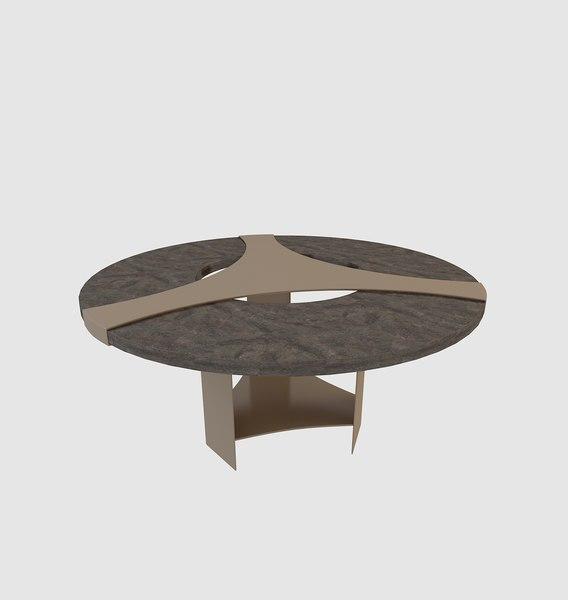 3D model scandinavian dining table furniture