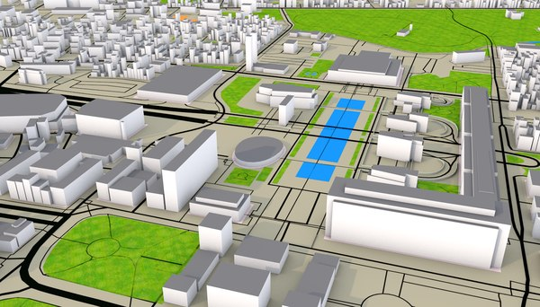 newyork roads railway 3D model