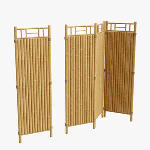 3D bamboo fence section