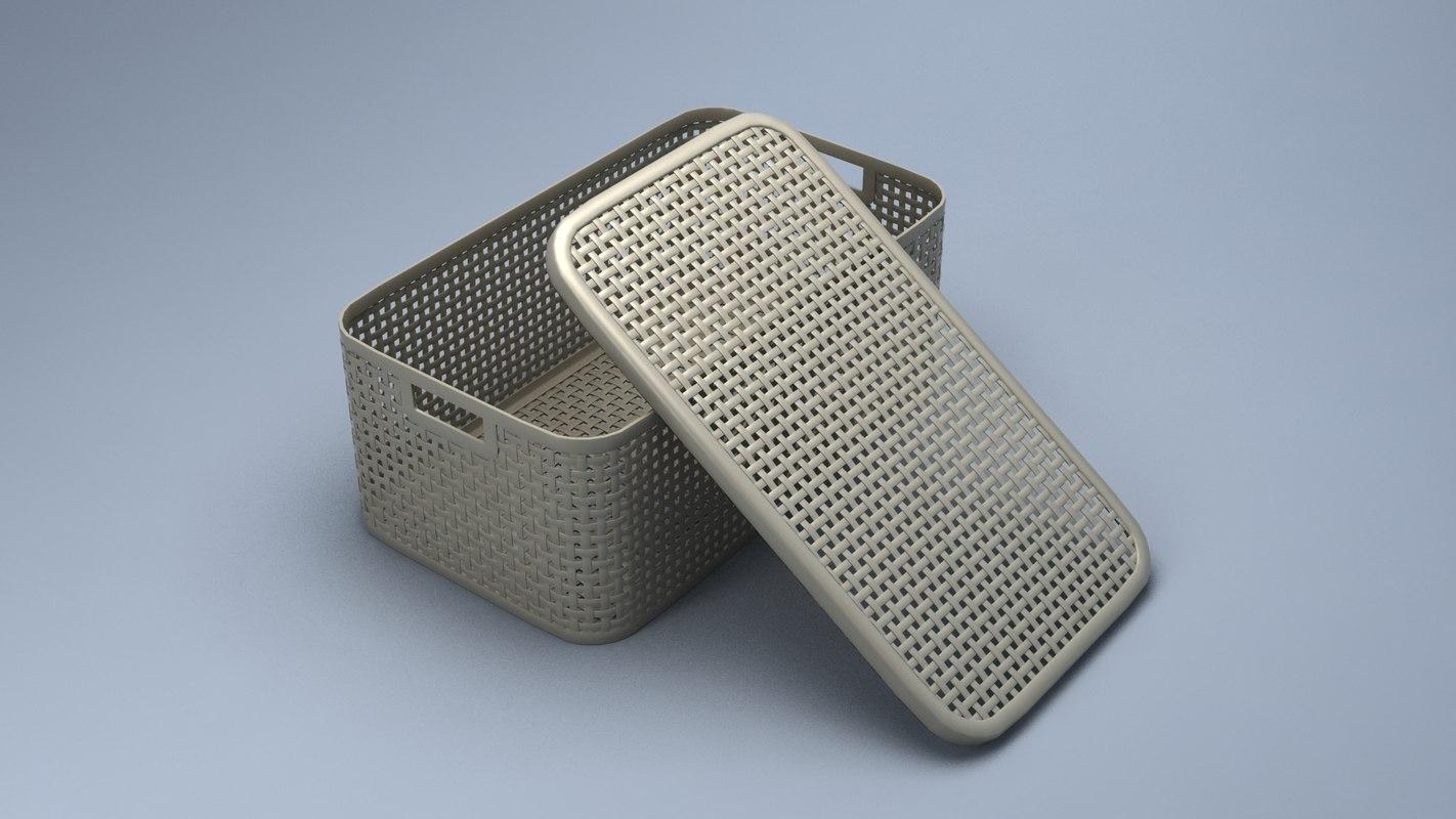 3D model laundry basket