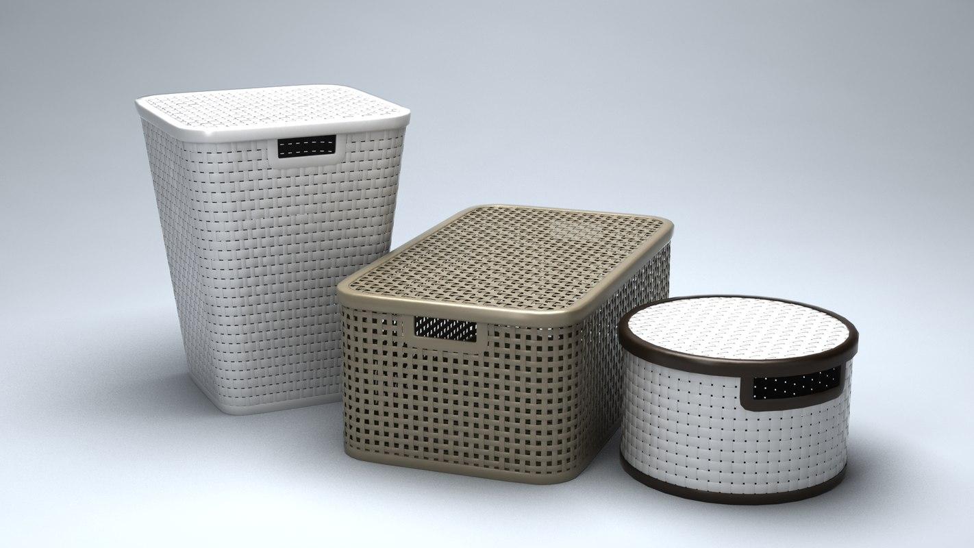 3D laundry baskets model