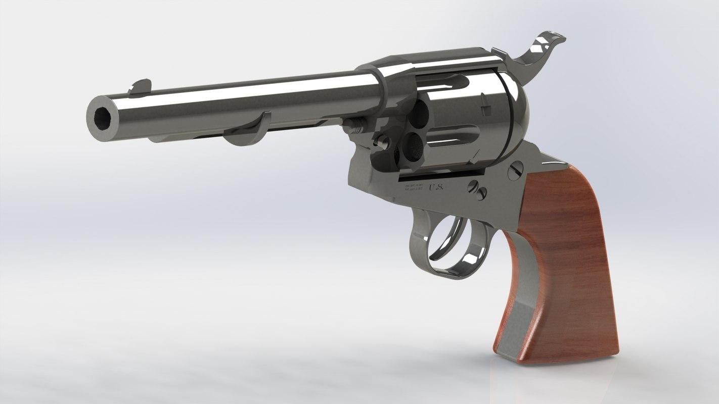 3D pistol guns weapon model