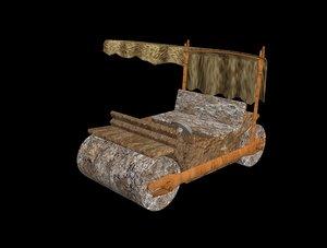 car flintstones 3D model