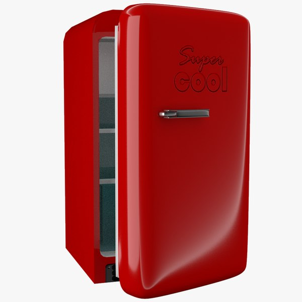 refrigerator realistic fridge 3D model