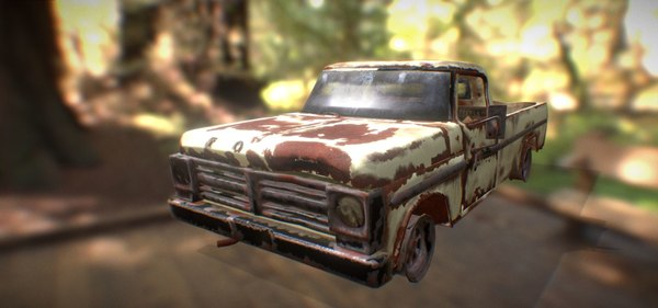 car rusted 3D