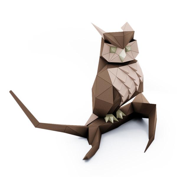 3D owl trophy decorate