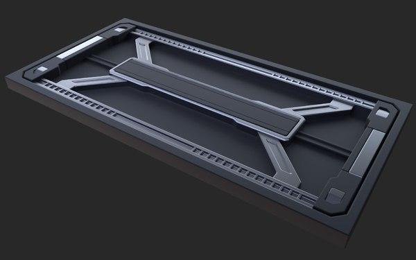 panels corridor blender 3D model