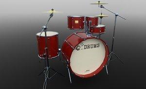 drum music instrument 3D model
